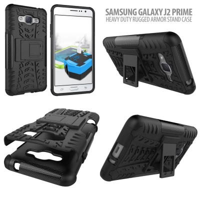 ^ Samsung Galaxy J2 Prime - Heavy Duty Rugged Armor Stand Case