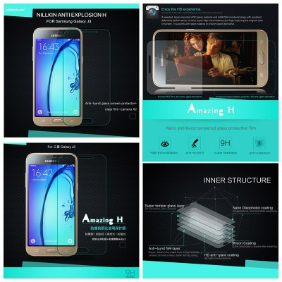 ^ Samsung Galaxy J3 2016 - Nillkin Anti-Explosion H Tempered Glass Screen Protector