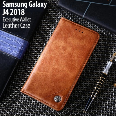 ^ Samsung Galaxy J4 2018 - Executive Wallet Leather Case