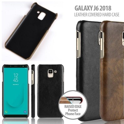 ^ Samsung Galaxy J6 2018 - Leather Covered Hard Case