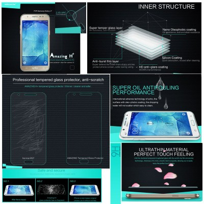 ^ Samsung Galaxy J7 - Nillkin Anti Explosion H Plus Tempered Glass Screen Protector