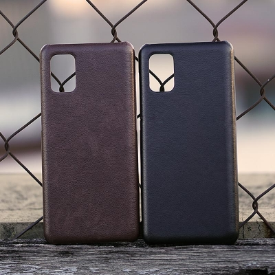 Samsung Galaxy M51 - Leather Covered Hard Case