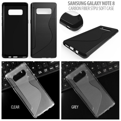 ^ Samsung Galaxy Note 8 - Carbon Fiber STPU Soft Case }