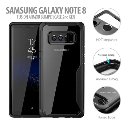^ Samsung Galaxy Note 8 - Fusion Armor Bumper Case 2nd Gen