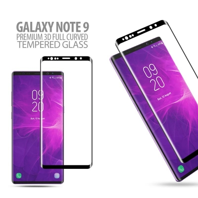 ^ Samsung Galaxy Note 9 - Premium 3D Curved Full Tempered Glass