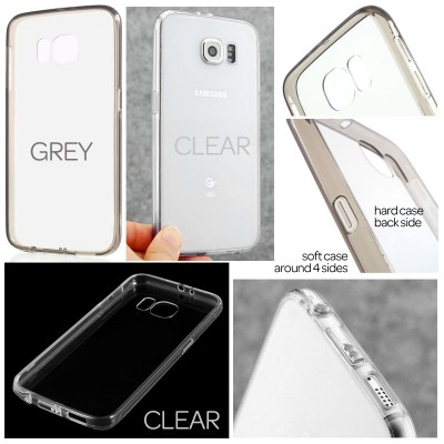 * Samsung Galaxy S6 SVI G920 - Transparent TPU Soft Case with Flip Cover