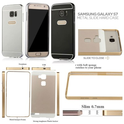 ^ Samsung Galaxy S7 Flat - Metal Slide Hard Case