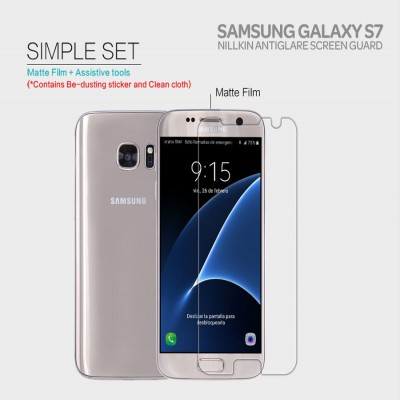 ^ Samsung Galaxy S7 Flat - Nillkin Antiglare Screen Guard }