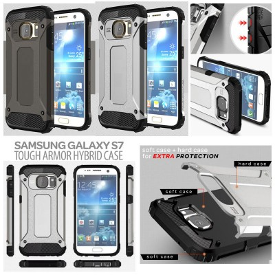 ^ Samsung Galaxy S7 Flat - Tough Armor Hybrid Case