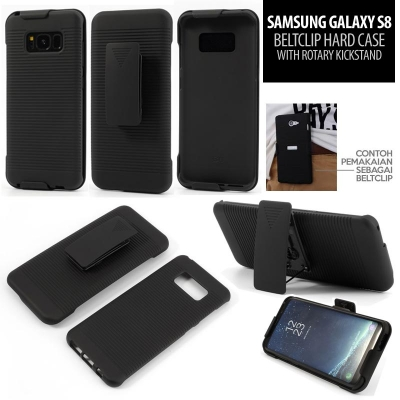 * Samsung Galaxy S8 - Beltclip Hard Case with Rotary Kickstand }