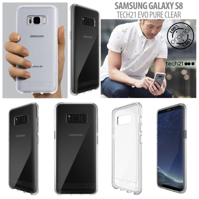 [HRX] Samsung Galaxy S8 - Original Tech21 Evo Pure Clear Hard Case