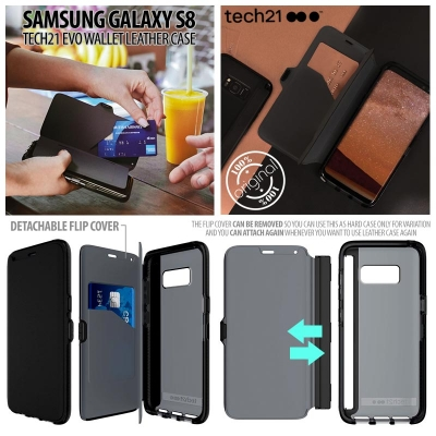 [HRX] Samsung Galaxy S8 - Original Tech21 Evo Wallet Leather Case