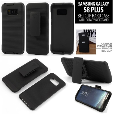 * Samsung Galaxy S8 Plus - Beltclip Hard Case with Rotary Kickstand