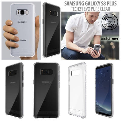 [HRX] Samsung Galaxy S8 Plus - Original Tech21 Evo Pure Clear Hard Case