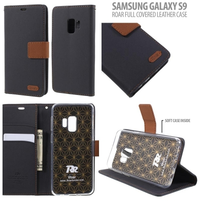 ^ Samsung Galaxy S9 - Roar Full Covered Leather Case }