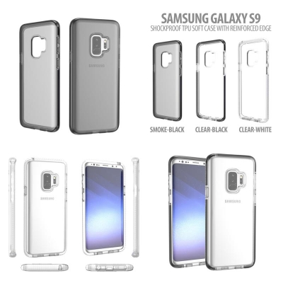^ Samsung Galaxy S9 - Shockproof TPU Soft Case with Reinforced Edge }