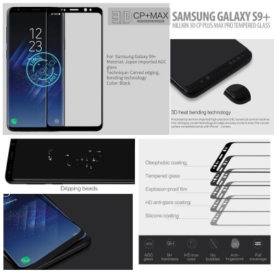 ^ Samsung Galaxy S9 Plus - Nillkin 3D CP Plus Max Pro Tempered Glass }