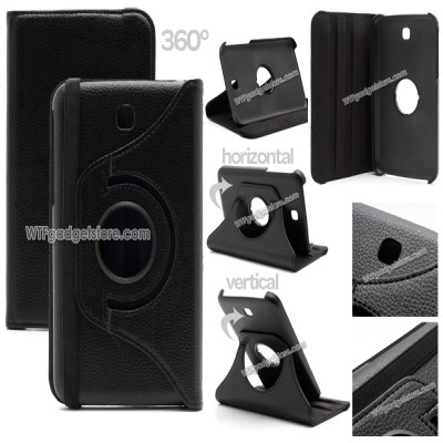 ^ Samsung Galaxy Tab 3 7.0 P3200 - Rotary Leather Case }