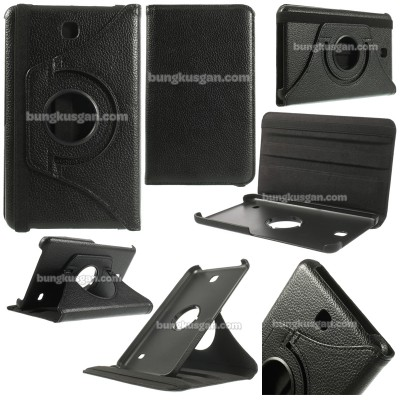 ^ Samsung Galaxy Tab 4 7.0 T230 - 360 Degree Rotary Leather Case }
