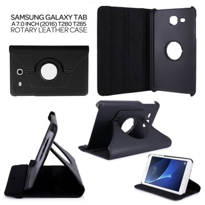 ^ Samsung Galaxy Tab A 7.0 2016 T280 T285 - 360 Degree Rotary Leather Case }