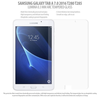 * Samsung Galaxy Tab A 7.0 2016 T280 T285 - Lumina 0.3 mm Arc Tempered Glass }