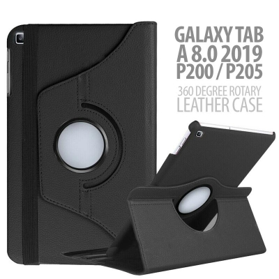 ^ Samsung Galaxy Tab A 8.0 2019 P200 P205 - 360 Degree Rotary Leather Case