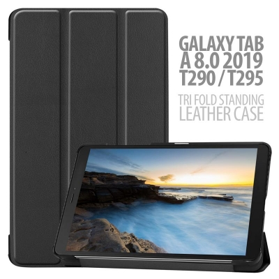 ^ Samsung Galaxy Tab A 8.0 2019 T290 T295 - Tri Fold Standing Leather Case