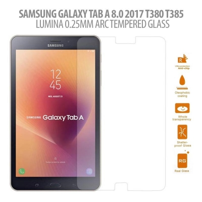 ^ Samsung Galaxy Tab A 8.0 2017 T380 - Lumina 0.25 mm Arc Tempered Glass }