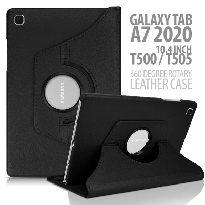 SOON Samsung Galaxy Tab A7 2020 10.4 Inch - 360 Degree Rotary Leather Case
