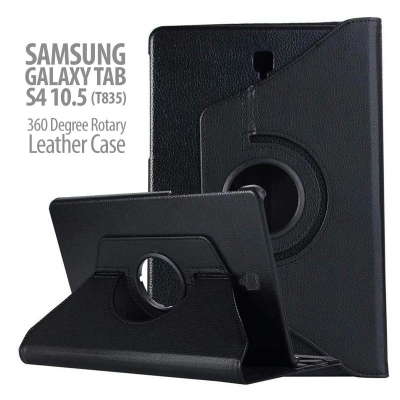 ^ Samsung Galaxy Tab S4 10.5 T835 - 360 Degree Rotary Leather Case
