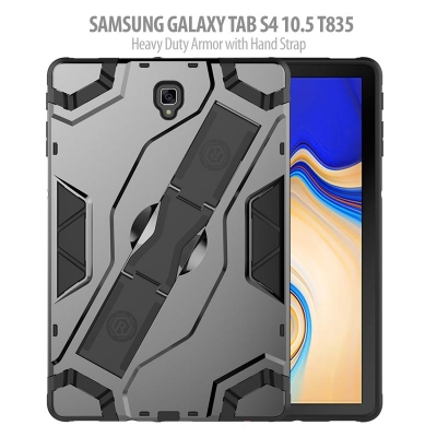 ^ Samsung Galaxy Tab S4 10.5 T835 - Heavy Duty Armor with Hand Strap