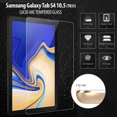 ^ Samsung Galaxy Tab S4 10.5 T835 - Lucid Arc Tempered Glass