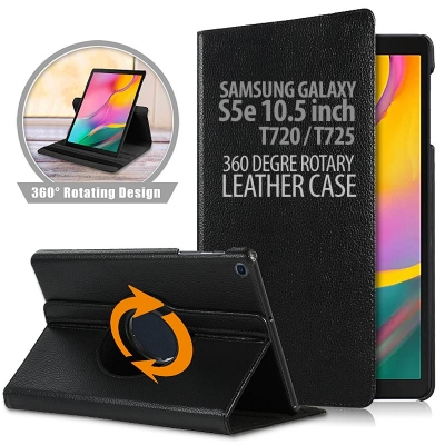^ Samsung Galaxy Tab S5e 10.5 inch T720 T725N - 360 Degree Rotary Leather Case