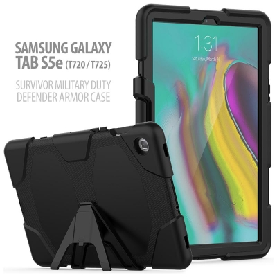 ^ Samsung Galaxy Tab S5e 10.5 inch T720 T725N - Survivor Military Duty Defender Armor Case