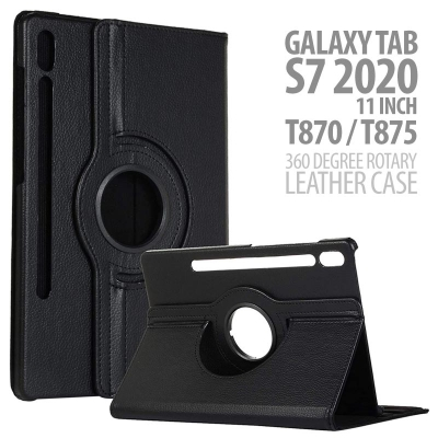 SOON Samsung Galaxy Tab S7 2020 11 Inch T875 - 360 Degree Rotary Leather Case