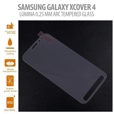^ Samsung Galaxy XCover 4 - Lumina 0.25 mm Arc Tempered Glass }
