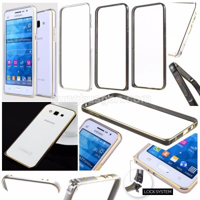 * Samsung Galaxy A8 - Gold Lining Metal Bumper Case