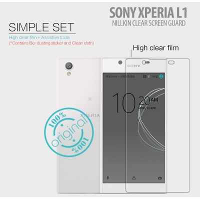 ^ Sony Xperia L1 - Nillkin Clear Screen Guard }