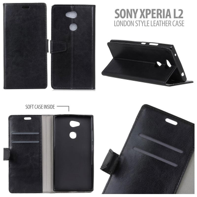 * Sony Xperia L2 - London Style Leather Case }
