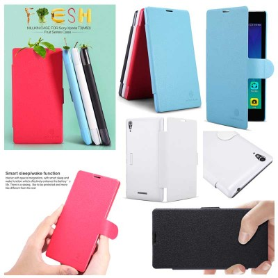 $ Sony Xperia T3 Dual / T3 D5103 - Nillkin Fresh Series Leather Case