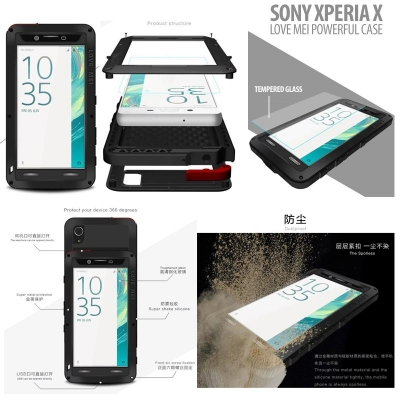 ^ Sony Xperia X - Love Mei Powerful Case }