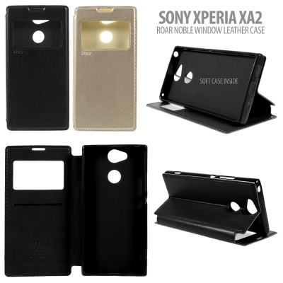 ^ Sony Xperia XA2 - Roar Noble Window Leather Case }