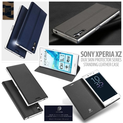 ^ Sony Xperia XZ Dual / Xperia XZ - DUX Skin Protector Series Standing Leather Case }