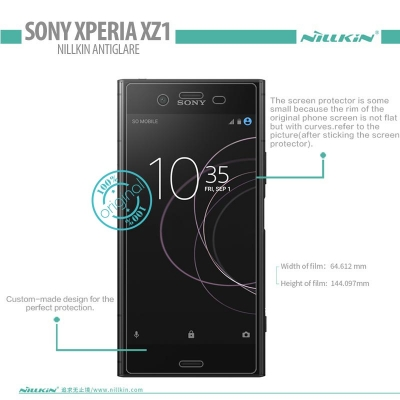 ^ Sony Xperia XZ1 Dual / Xperia XZ1 - Nillkin Antiglare Screen Guard }