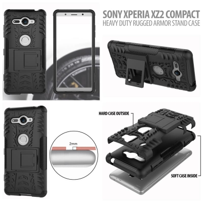 ^ Sony Xperia XZ2 Compact - Heavy Duty Rugged Armor Stand Case }