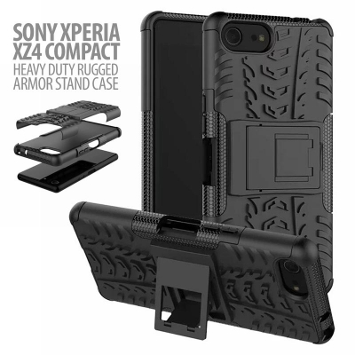 ^ Sony Xperia XZ4 Compact - Heavy Duty Rugged Armor Stand Case