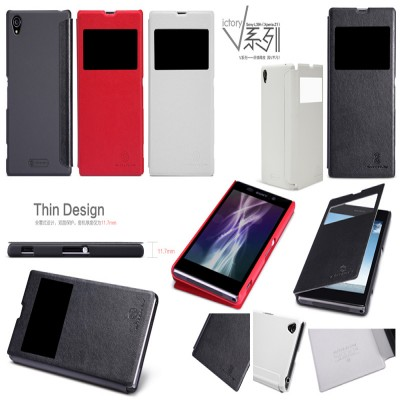 $ Sony Xperia Z1 Honami L39H C6802 - Nillkin V Series Leather Case