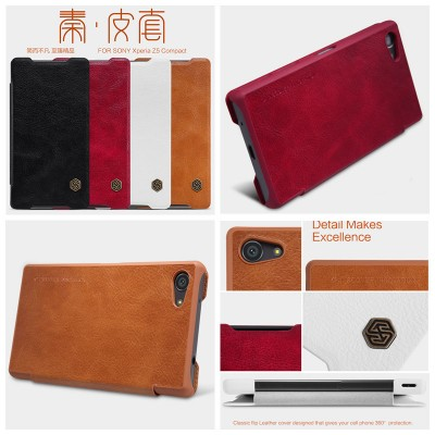 ^ Sony Xperia Z5 Compact E5803  - Nillkin Qin Leather Case