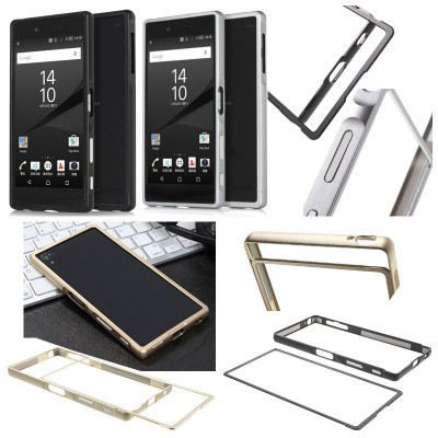 * Sony Xperia Z5 Premium Dual / Z5 Premium - Slide On Metal Bumper Case }