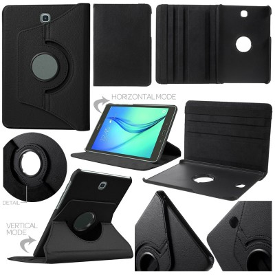 ^ Samsung Galaxy Tab S2 8.0 T715 - 360 Degree Rotary Leather Case }